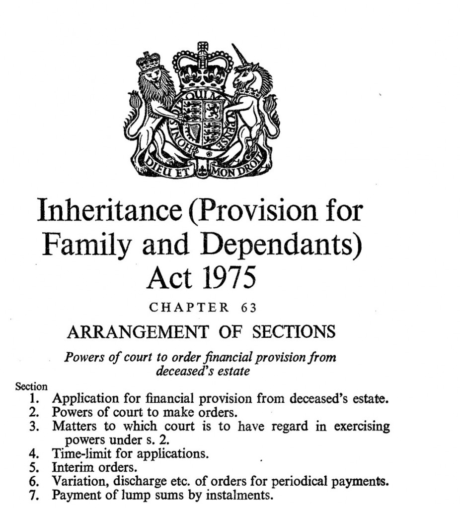 Inheritance Act 1975